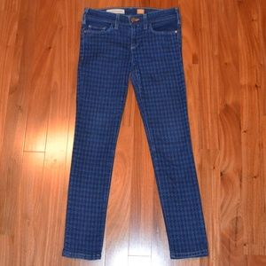 Anthropologie Pilcro Serif houndstooth skinny jean